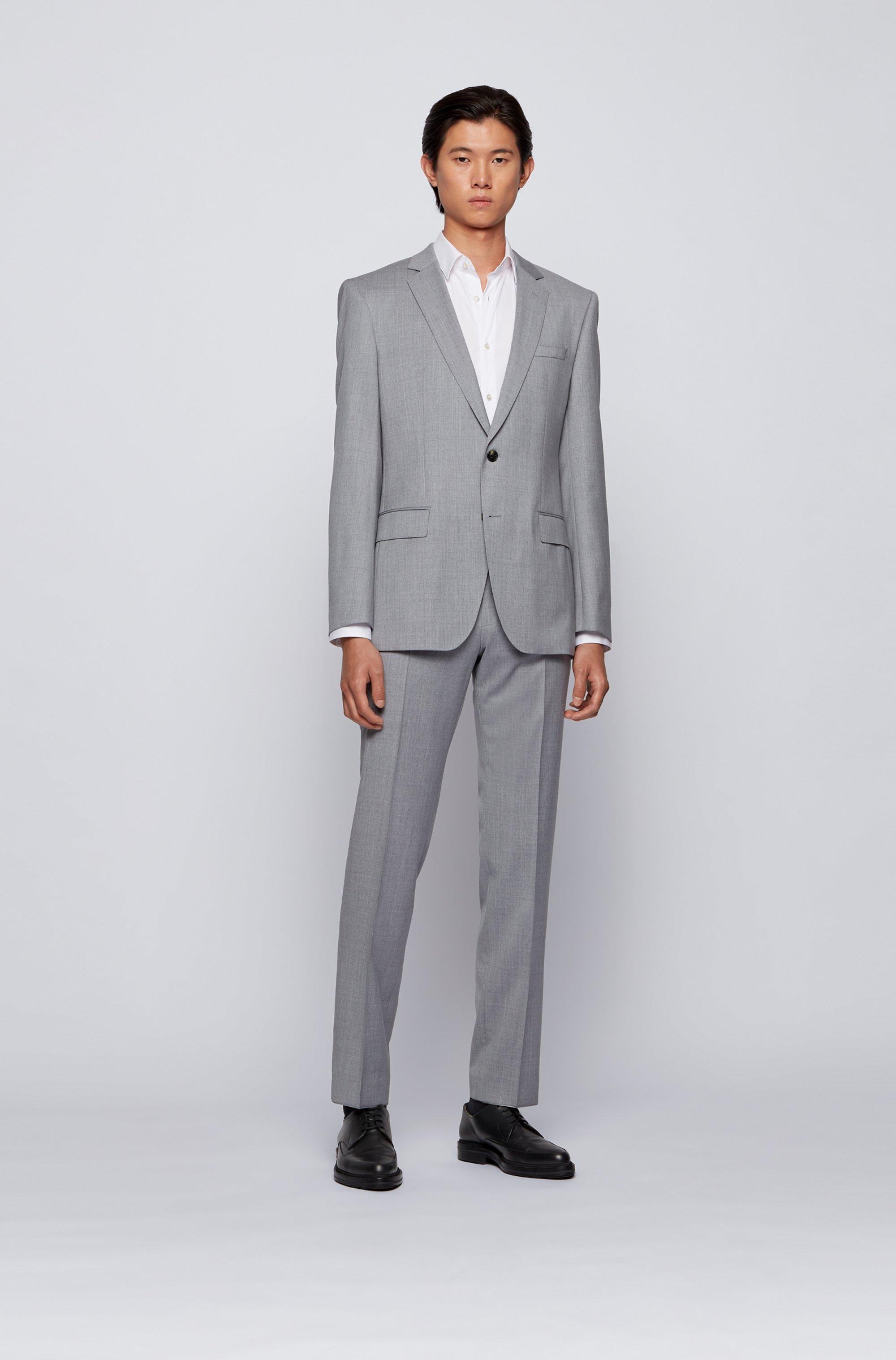 Slim-fit suit in virgin-wool serge