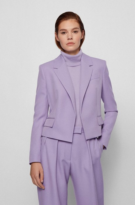 Veste Regular Fit en brokentwill de laine italienne, Violet clair