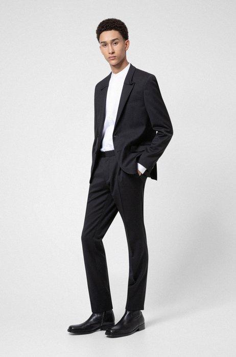 Costume Extra Slim Fit en twill de laine vierge, Noir