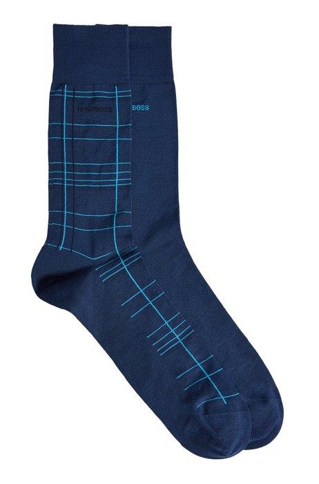Two-pack of regular-length socks in a cotton blend, Light Blue
