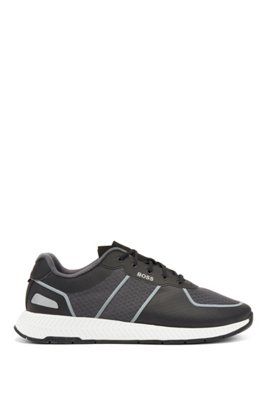Hybrid trainers with reflective accents and bamboo-cotton insole, Light Grey