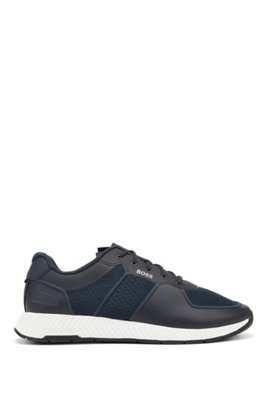 Hybrid trainers with reflective accents and bamboo-cotton insole, Dark Blue