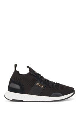 Baskets style chaussettes avec tige en maille REPREVE®, Noir