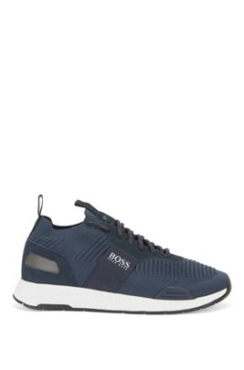 Sock trainers with knitted REPREVE® uppers, Dark Blue
