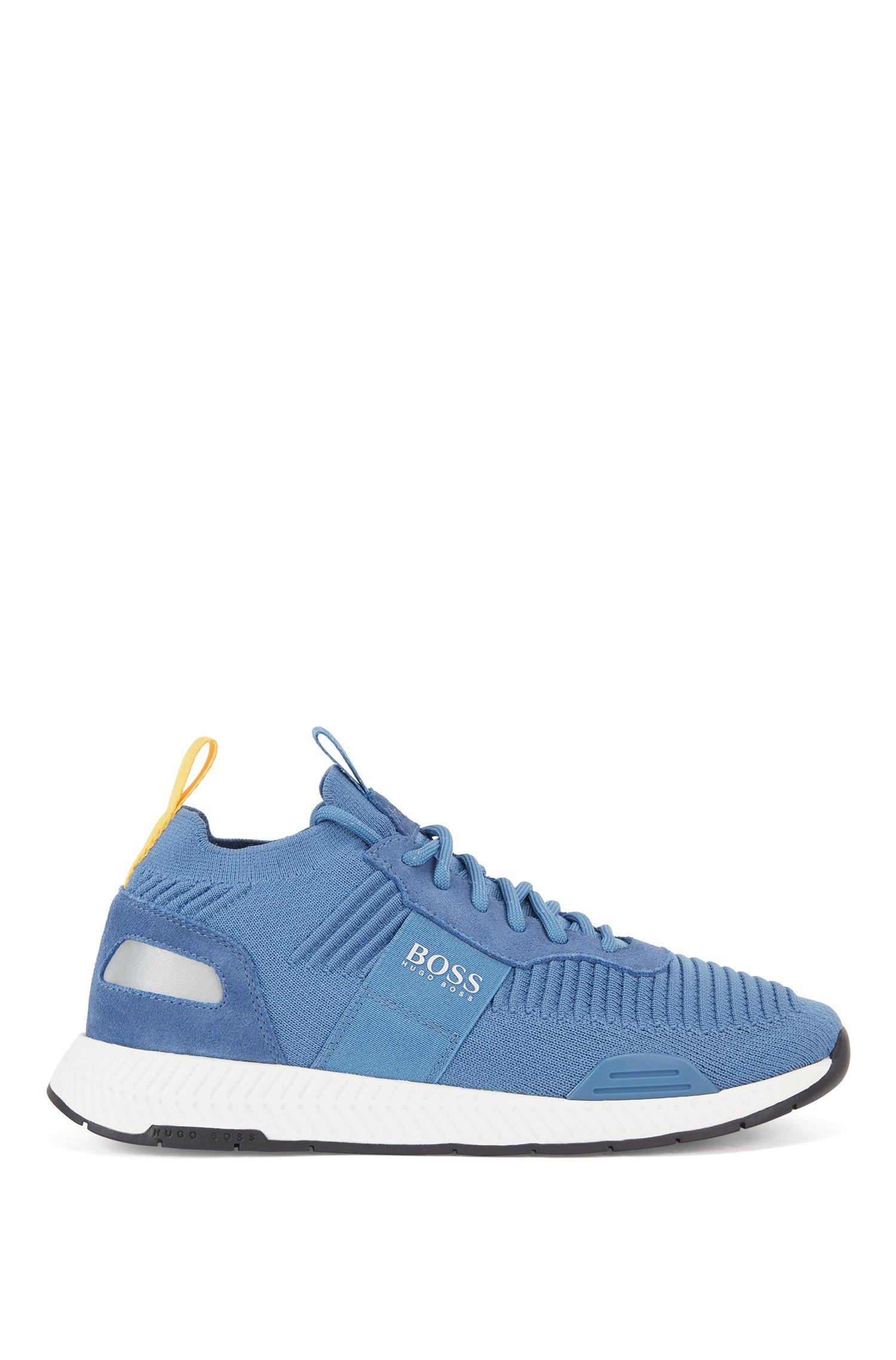 Baskets style chaussettes avec tige en maille REPREVE®, Bleu