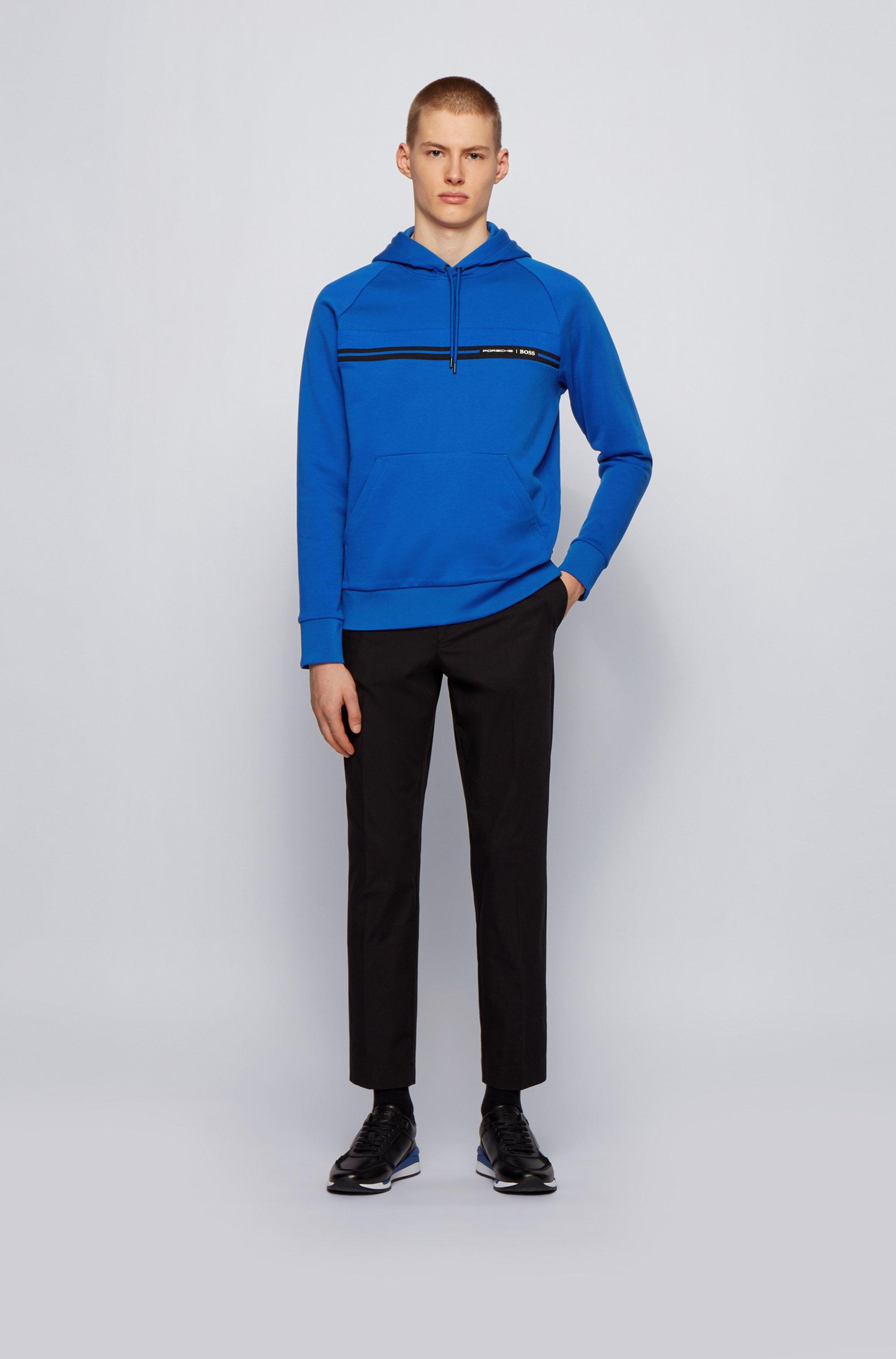Regular-fit sweatshirt in mercerized cotton terry