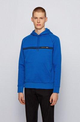 Regular-fit sweatshirt in mercerized cotton terry , Light Blue