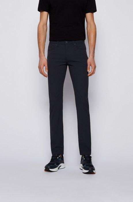 Slim-fit jeans in water-repellent super-stretch fabric, Dark Blue