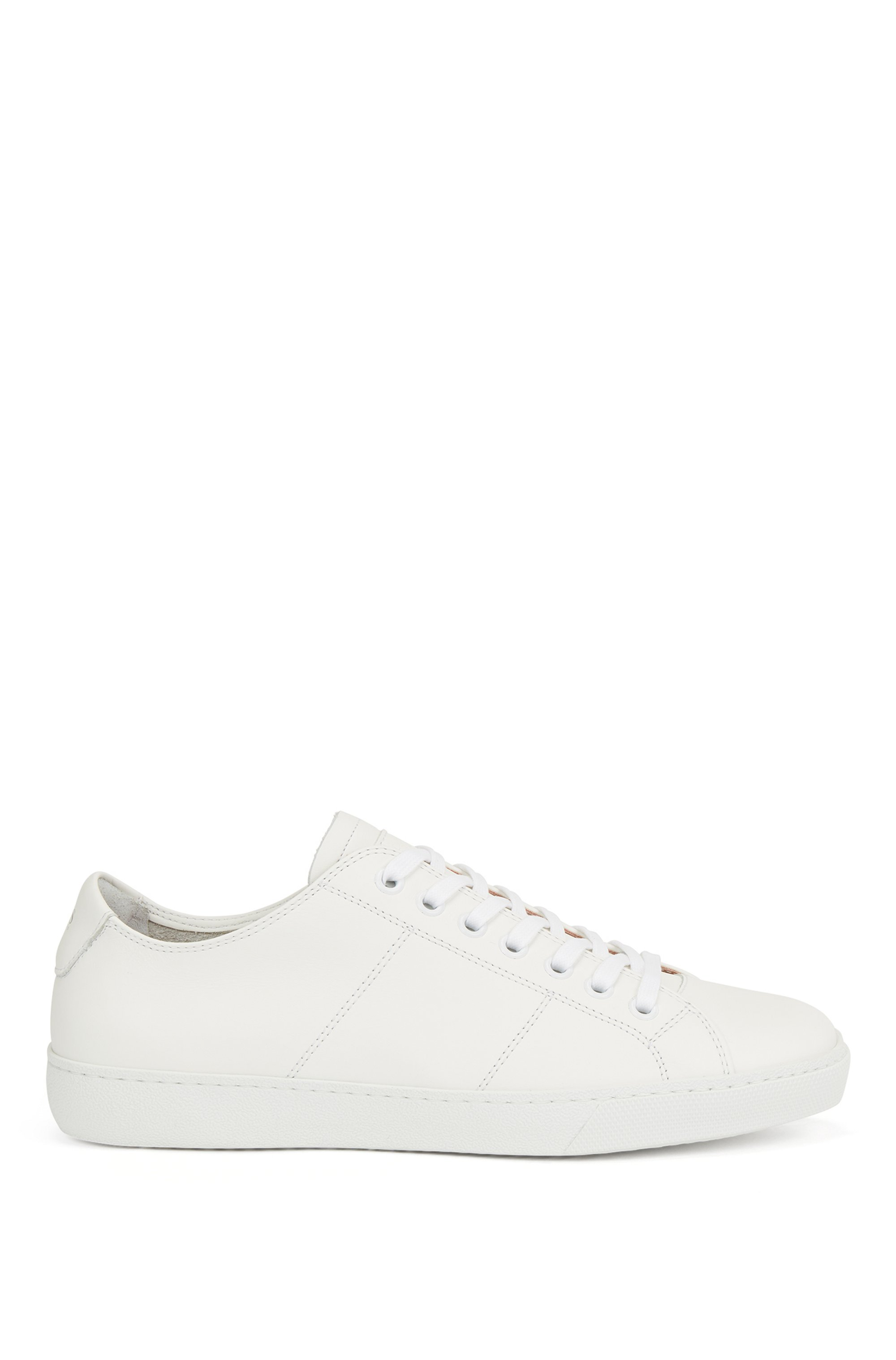 Low-profile trainers in Nappa leather with embossed logo, White