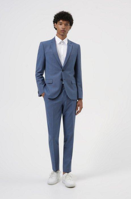 Costume Extra Slim Fit en laine mélangée très souple, Bleu