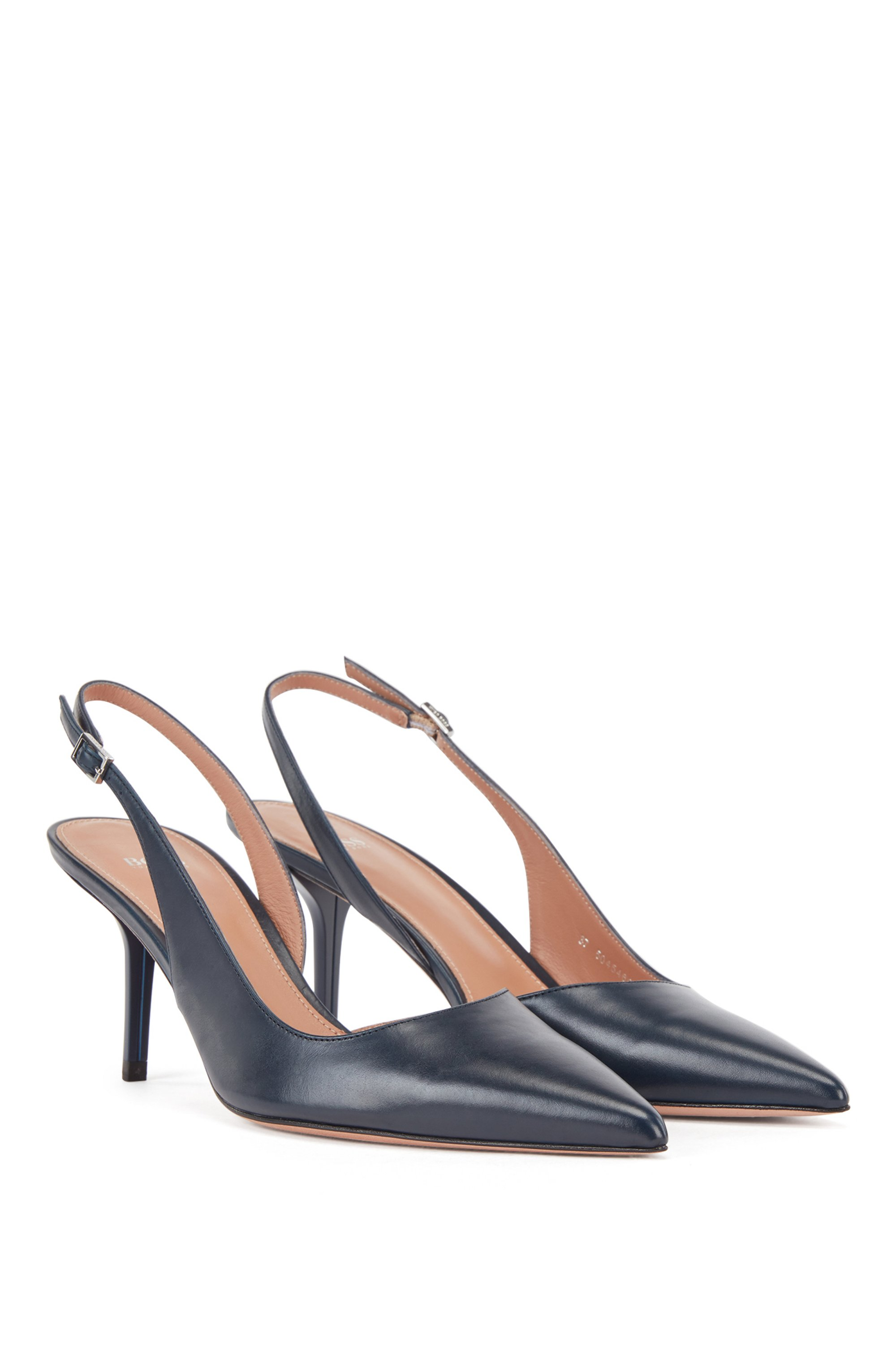 Slingback shoes in Italian leather