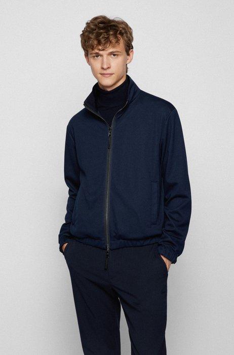 Reversible blouson jacket in a regular fit, Dark Blue