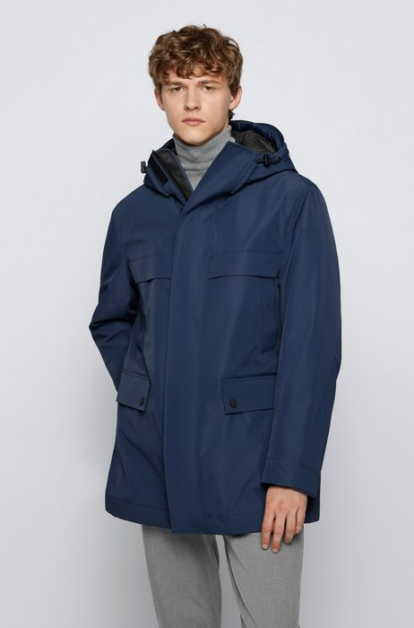 Three-in-one parka jacket with detachable quilted inner, Dark Blue