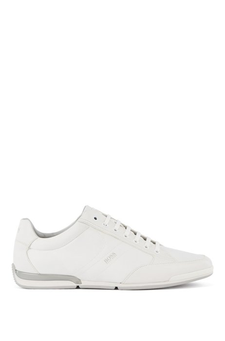 Low-profile trainers with memory-foam insole, White