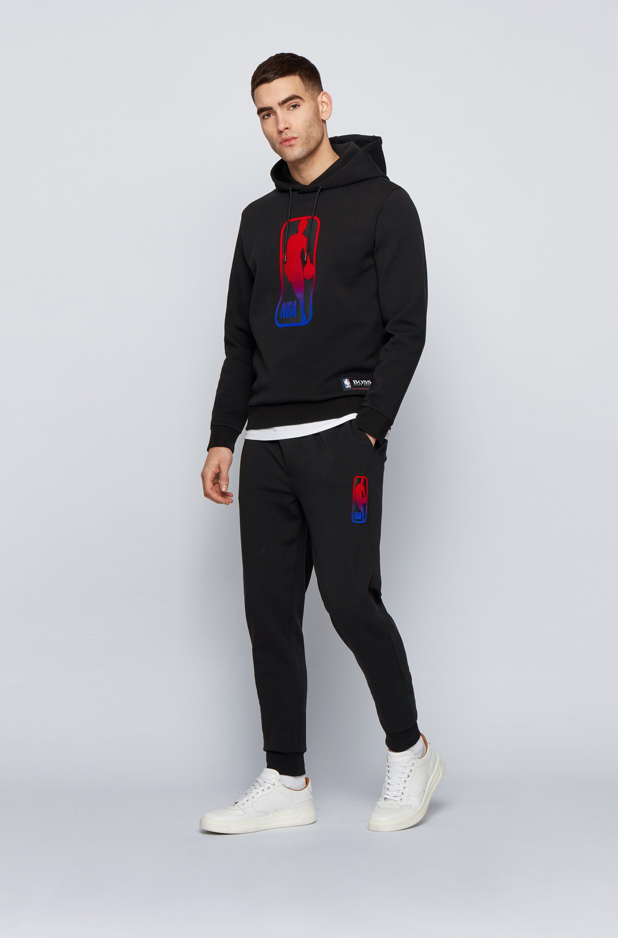 BOSS x NBA hooded sweatshirt with team logo
