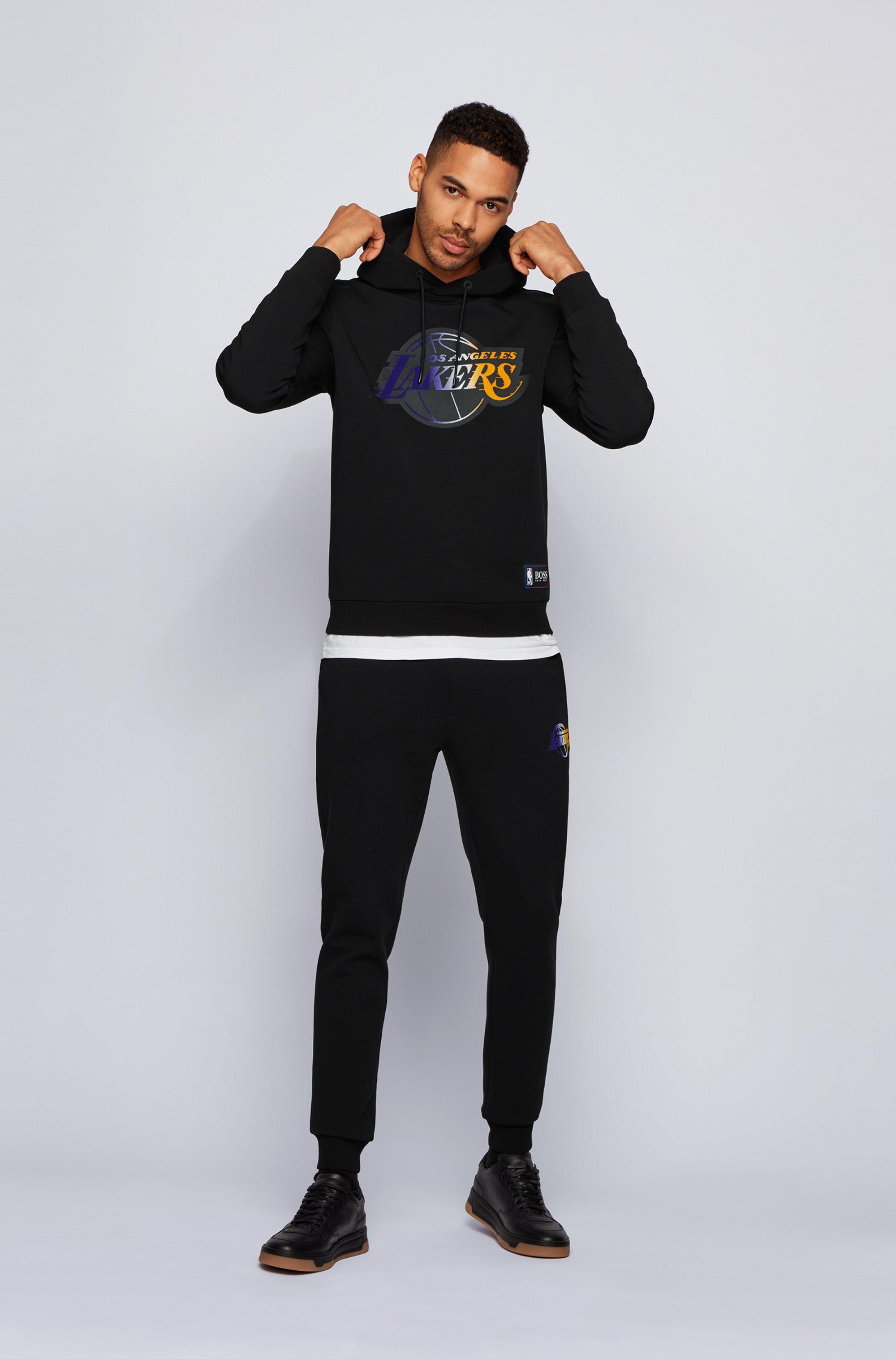 BOSS x NBA hooded sweatshirt with team logo