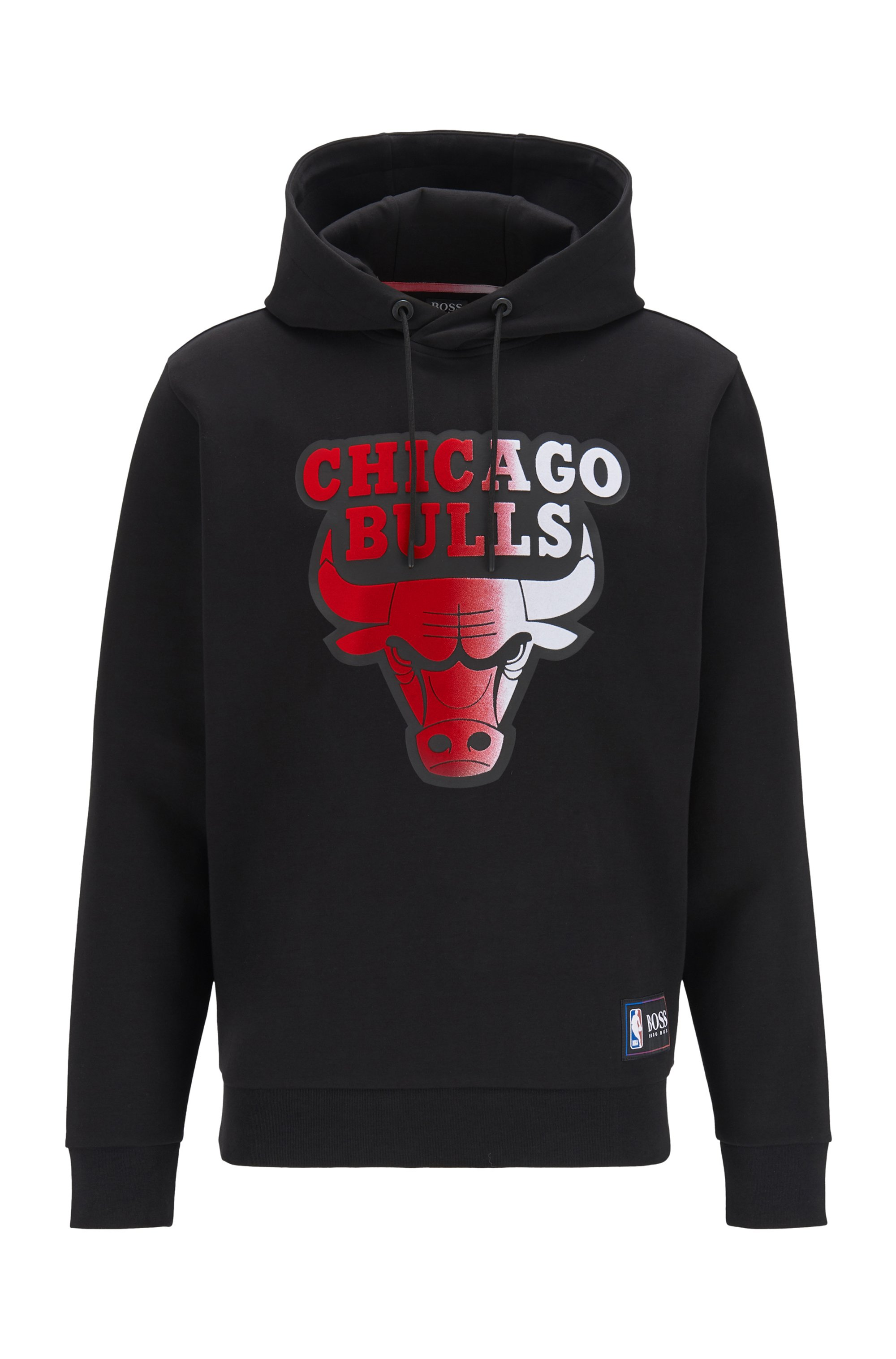 BOSS x NBA hooded sweatshirt with team logo, Black