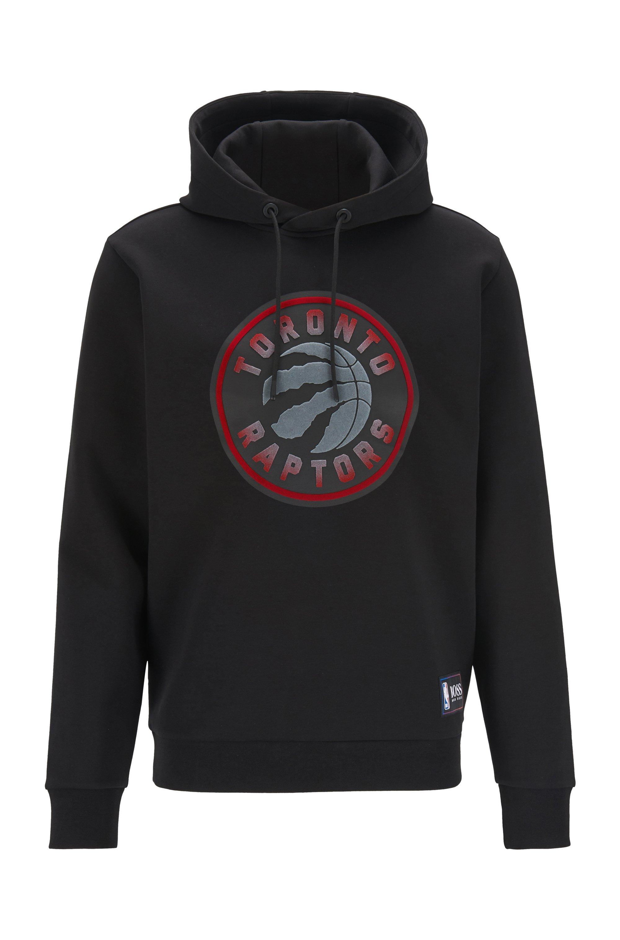 BOSS x NBA hooded sweatshirt with team logo, Black