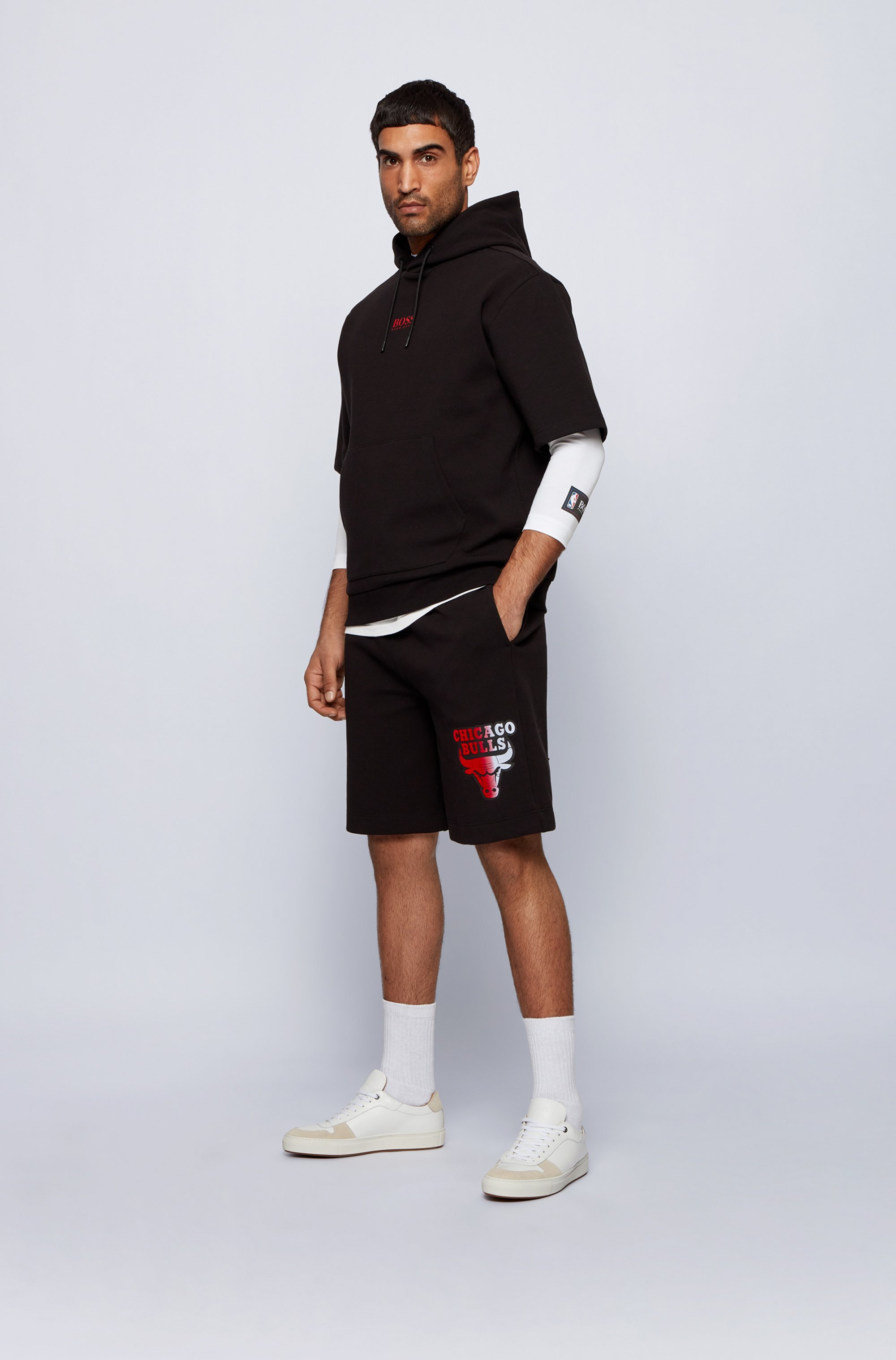 Long-sleeved T-shirt from BOSS x NBA with team logo