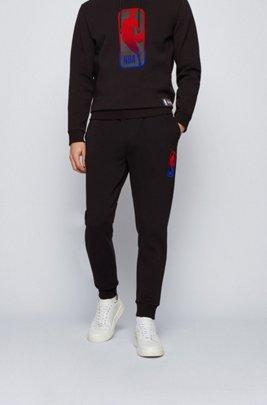 Pantalon de survêtement BOSS x NBA avec logo d'équipe, Noir