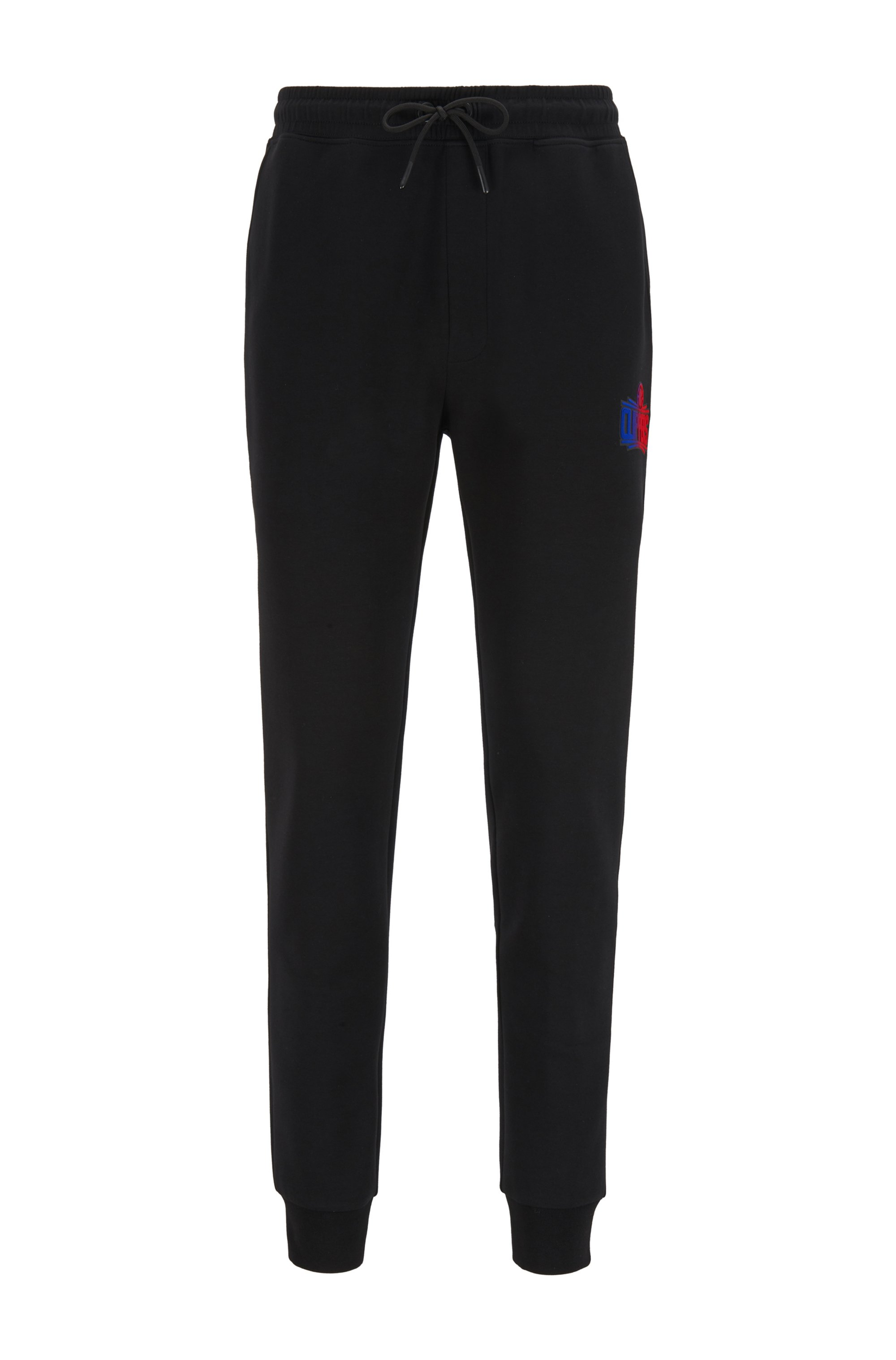BOSS x NBA tracksuit bottoms with team logo, Black