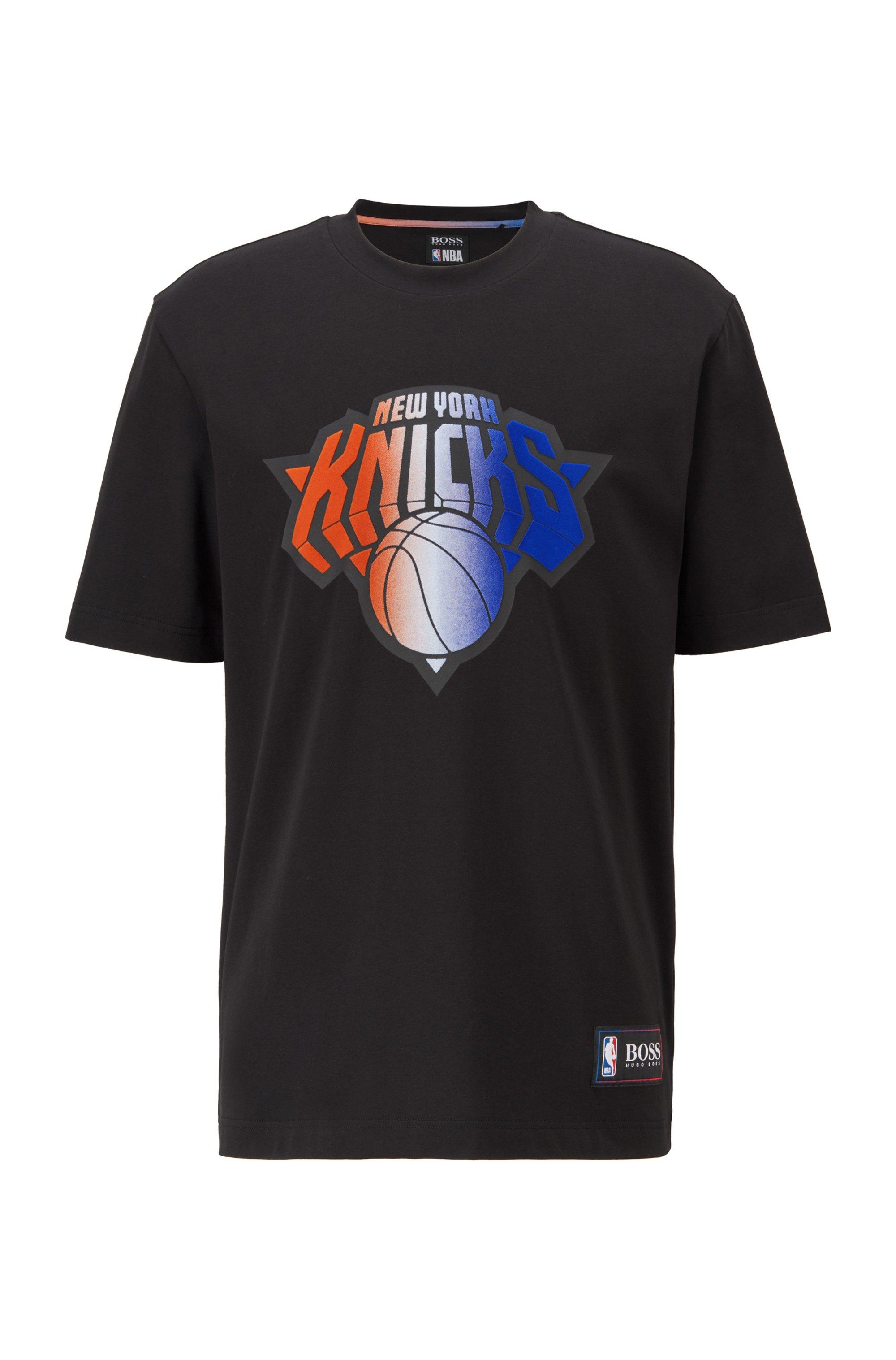 BOSS x NBA T-shirt with team logo, Black