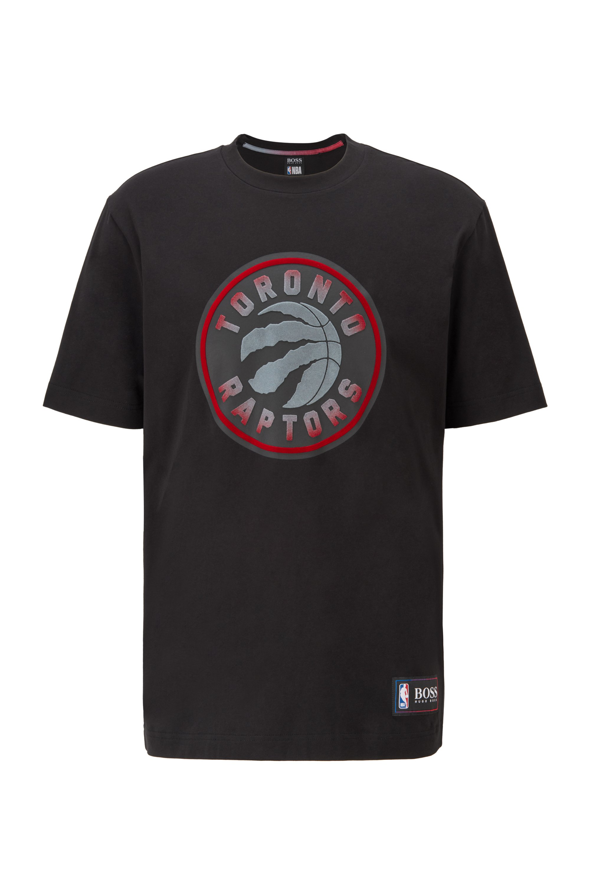 BOSS x NBA T-shirt with team logo, Black