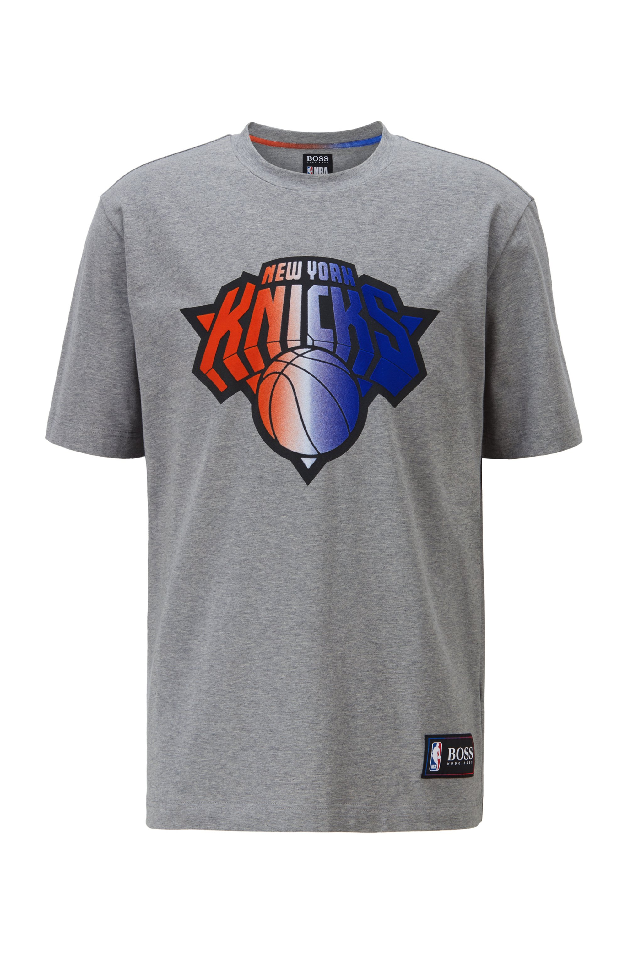 BOSS x NBA T-shirt with team logo, Grey