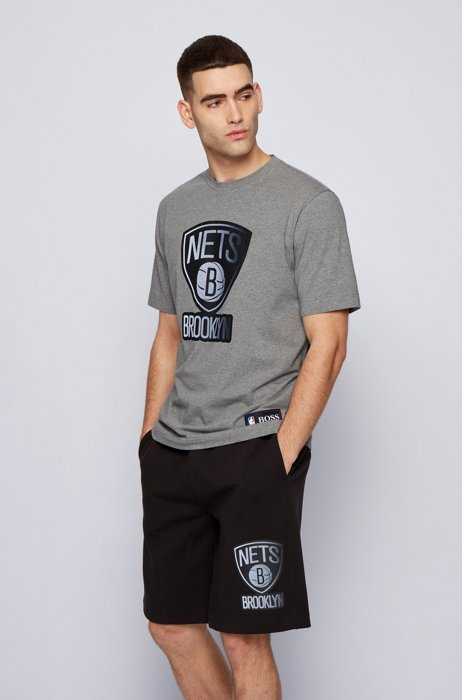 T-shirt BOSS x NBA avec logo d'équipe, Gris