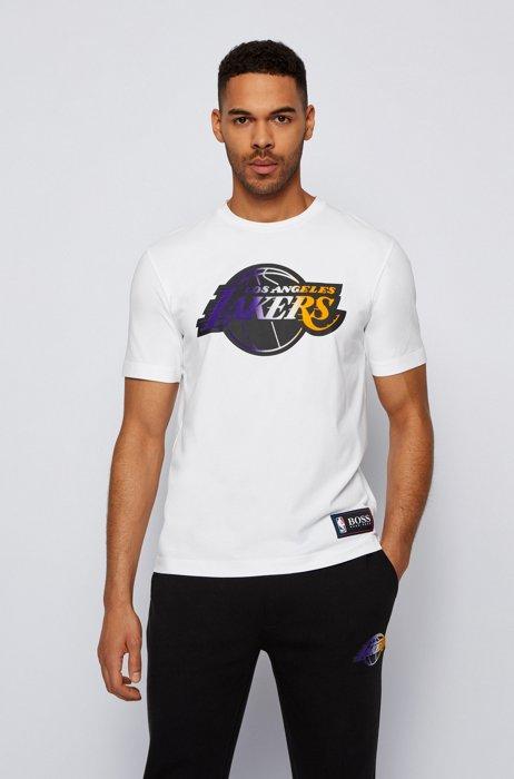 T-shirt BOSS x NBA avec logo d'équipe, Blanc