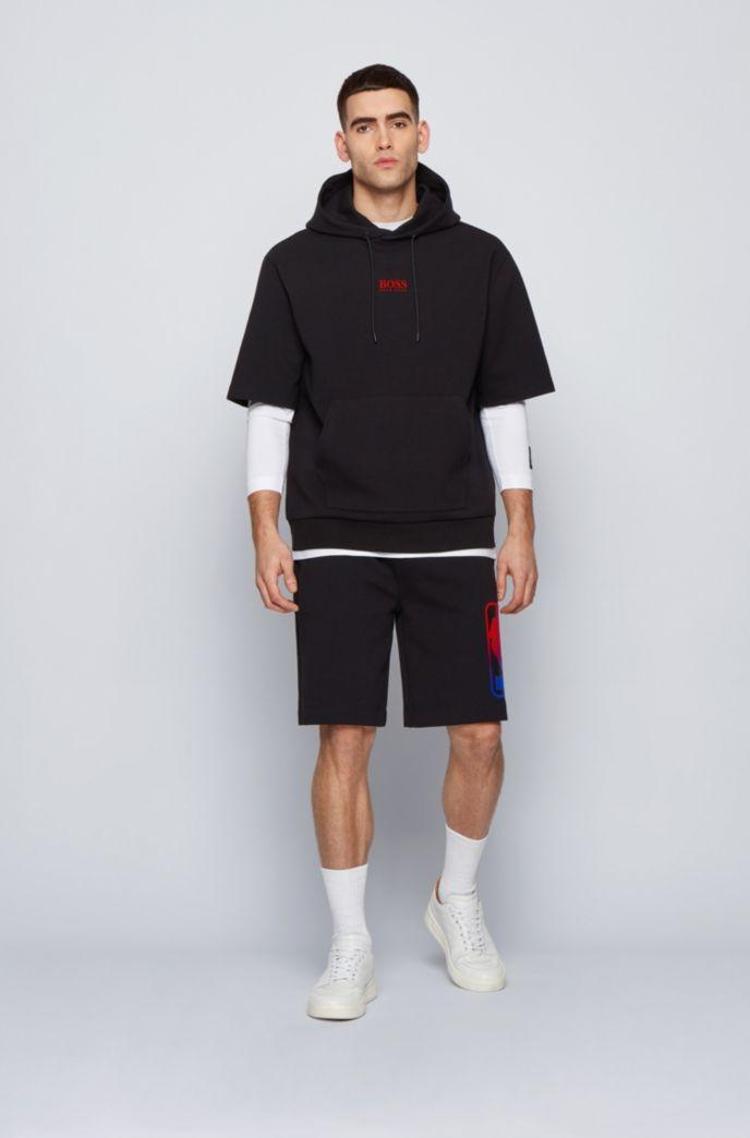 BOSS x NBA short-sleeved hoodie with team logo