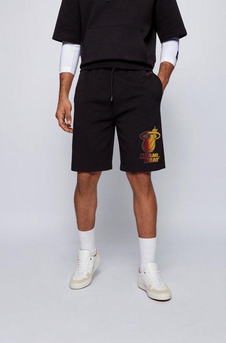 BOSS x NBA drawstring shorts with team logo, Black