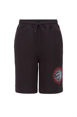 BOSS x NBA drawstring shorts with team logo, Black