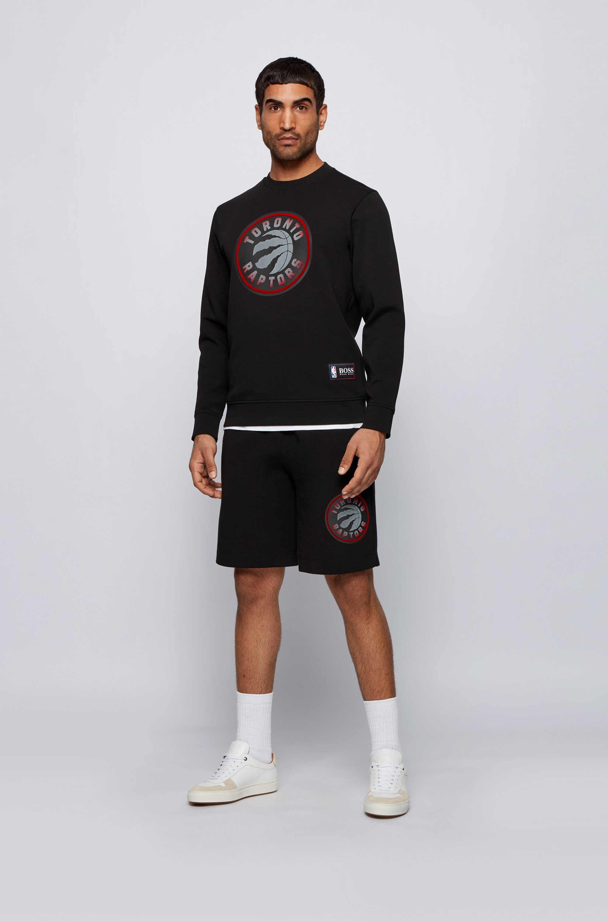 BOSS x NBA drawstring shorts with team logo