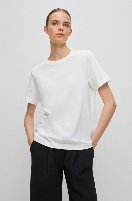 Relaxed-fit T-shirt in organic-cotton jersey, White