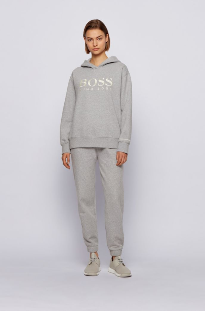 Cotton-blend tracksuit bottoms with logo print