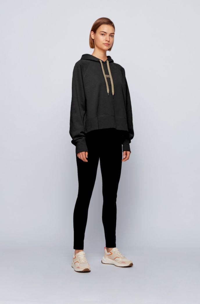 Sweat à capuche Oversized Fit en molleton avec logo