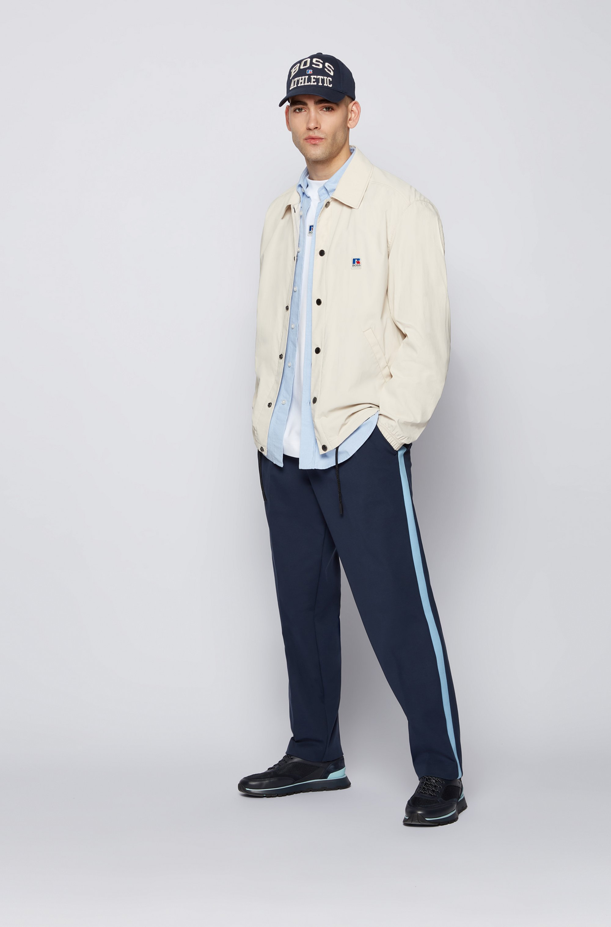 Relaxed-fit shirt in Oxford cotton with exclusive logo