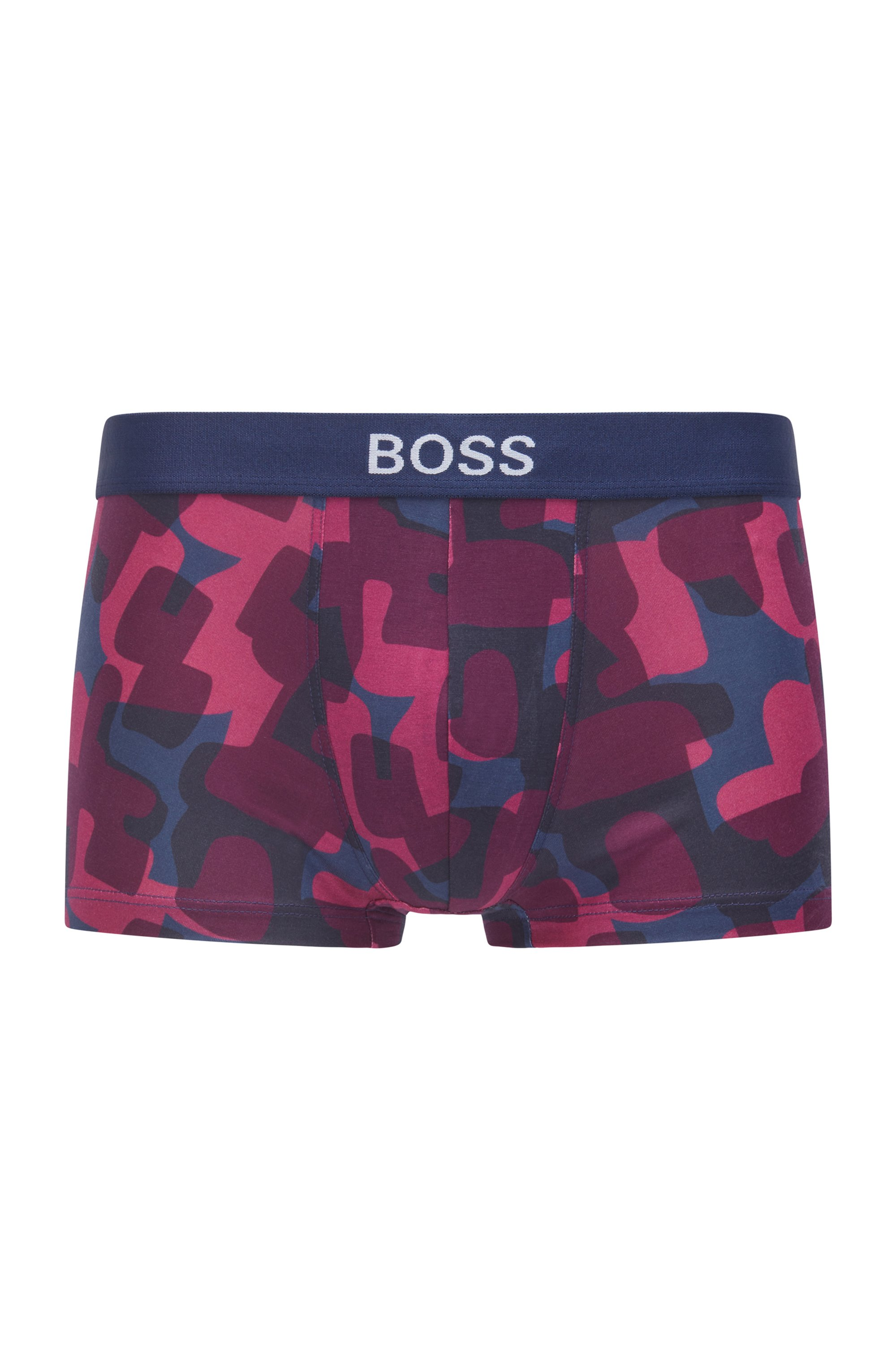 Camouflage-print trunks with TENCEL™ Lyocell, Blue