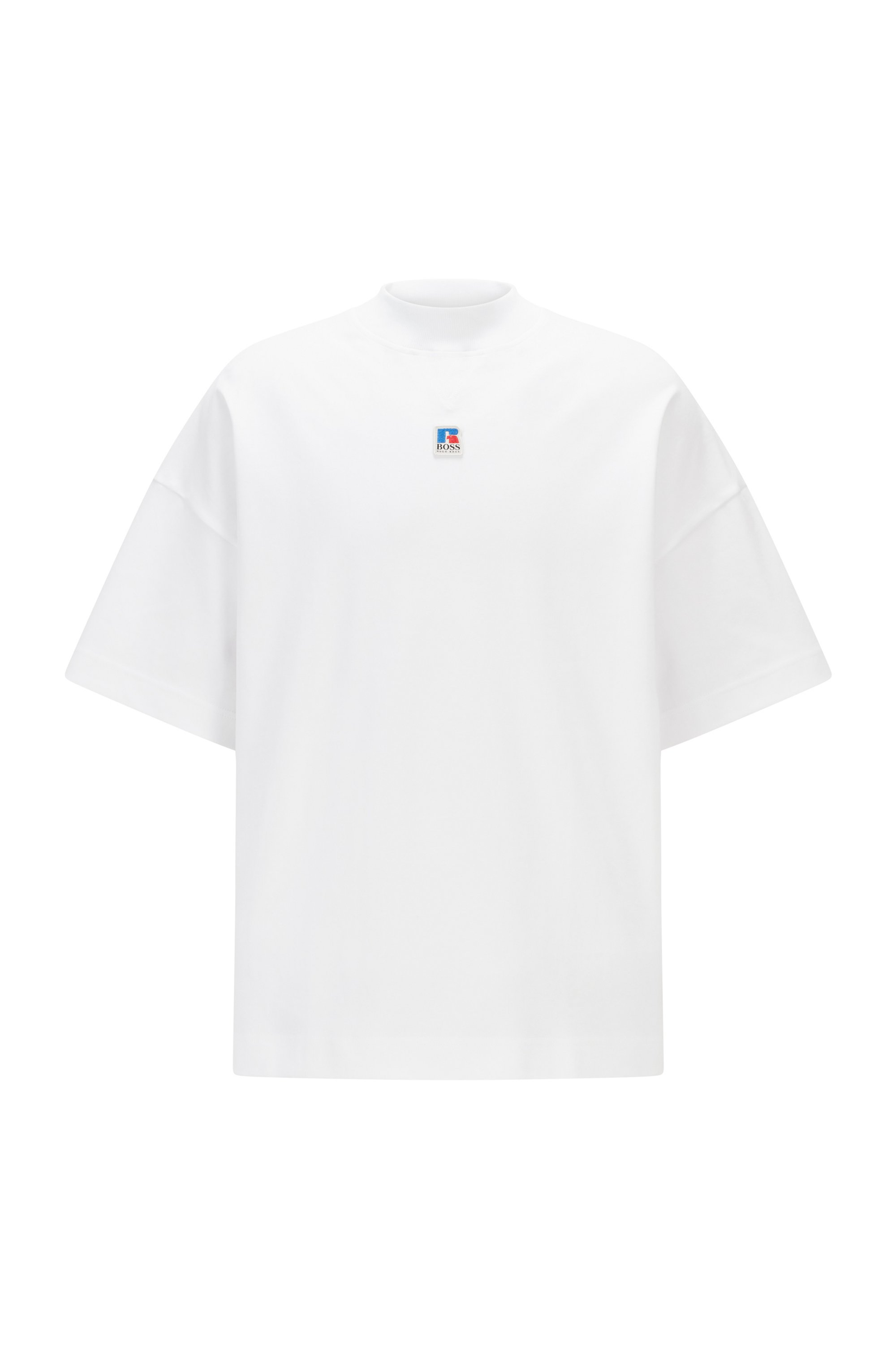 Relaxed-fit unisex T-shirt in organic cotton with exclusive logo, White