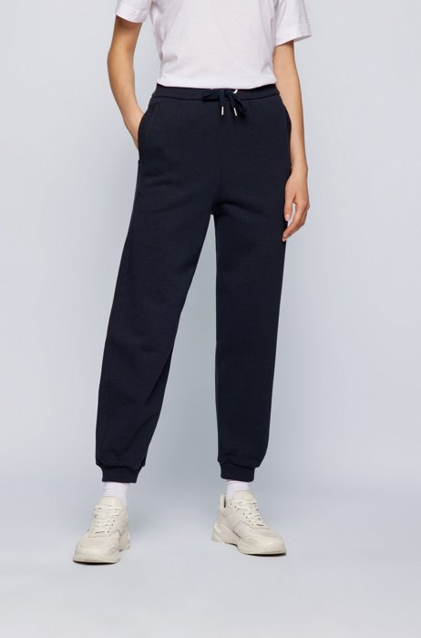 Relaxed-fit tracksuit bottoms in cotton-blend jersey, Light Blue