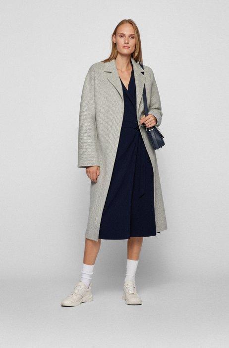 Coat-style business dress in a virgin-wool blend, Light Blue
