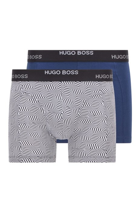 Two-pack of boxer briefs in stretch cotton, White