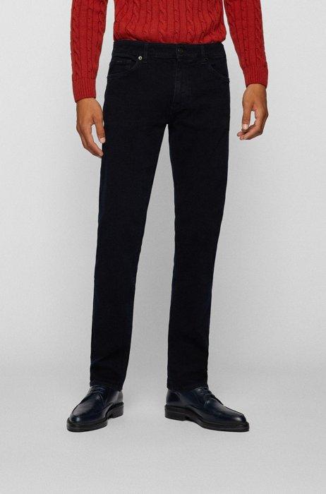 Regular-fit jeans in navy cashmere-touch denim, Dark Blue