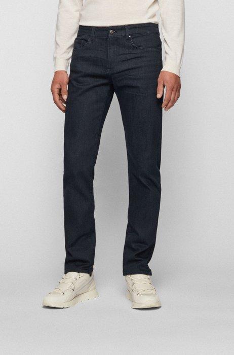 Slim-fit jeans in dark-gray comfort-stretch denim, Light Grey