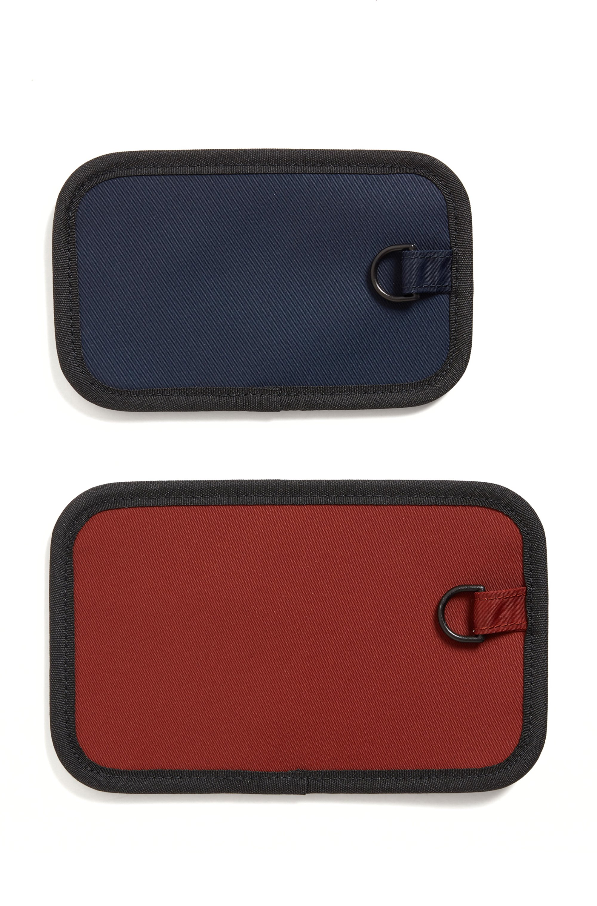 Neck pouch in structured nylon with exclusive logos