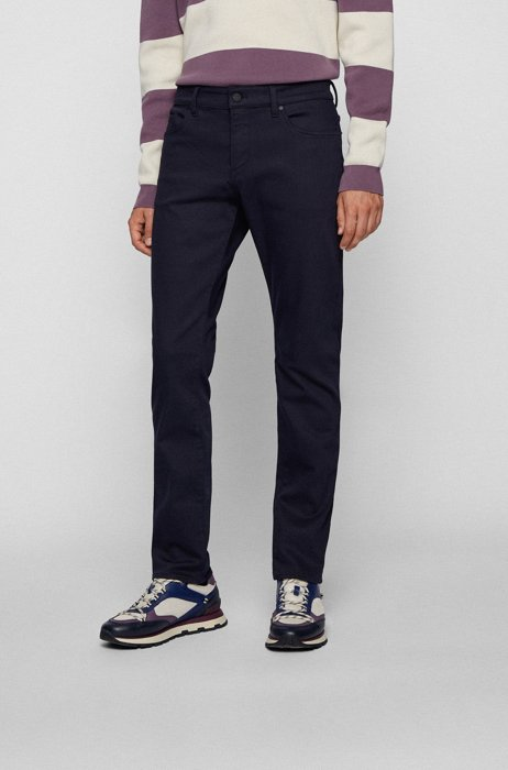 Slim-fit jeans in blue denim with TENCEL™ Lyocell and REPREVE®, Dark Blue