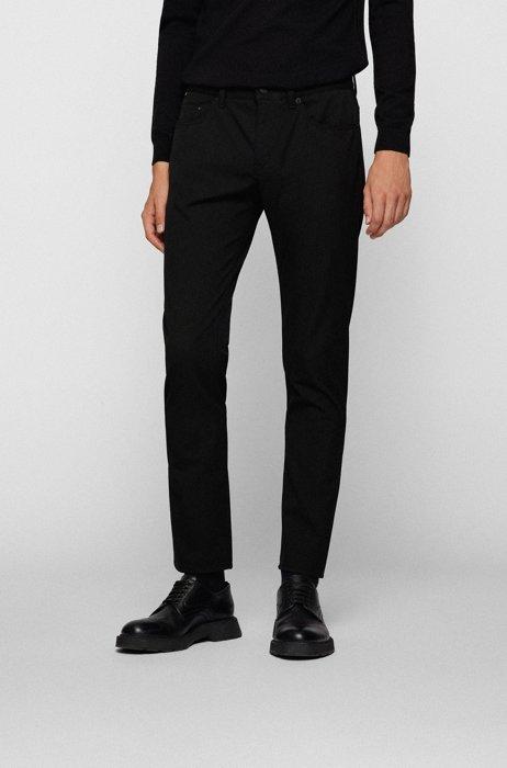 Slim-fit jeans in performance-stretch denim, Black