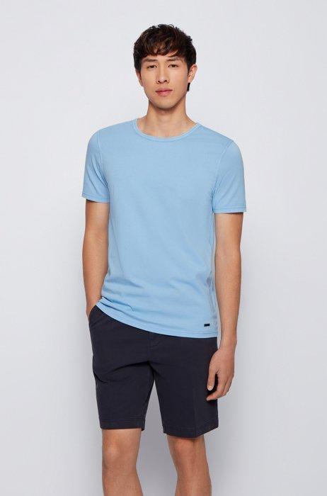 Organic-cotton T-shirt with garment-dyed finish, Light Blue