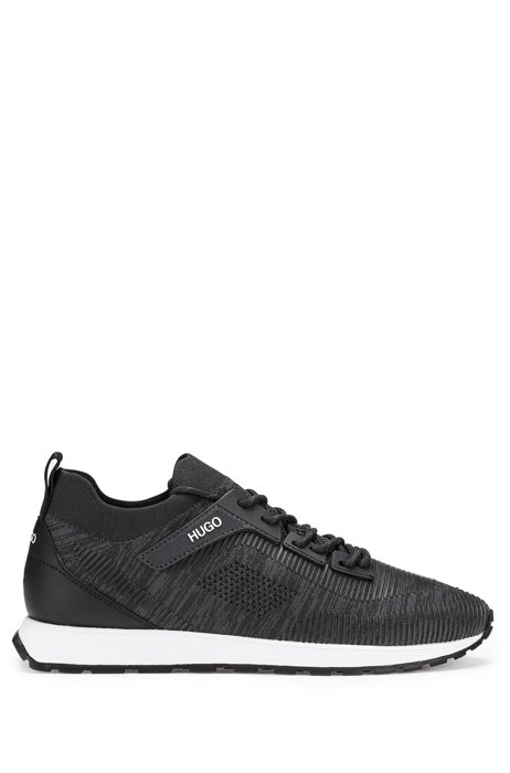 Retro-inspired sock trainers with REPREVE®, Black